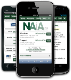 Mobile insurance website for North Atlantic Insurance Associates at m.northatlanticins.com
